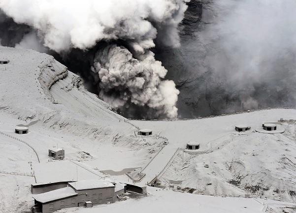 Kumamoto: eruzione del vulcano Aso