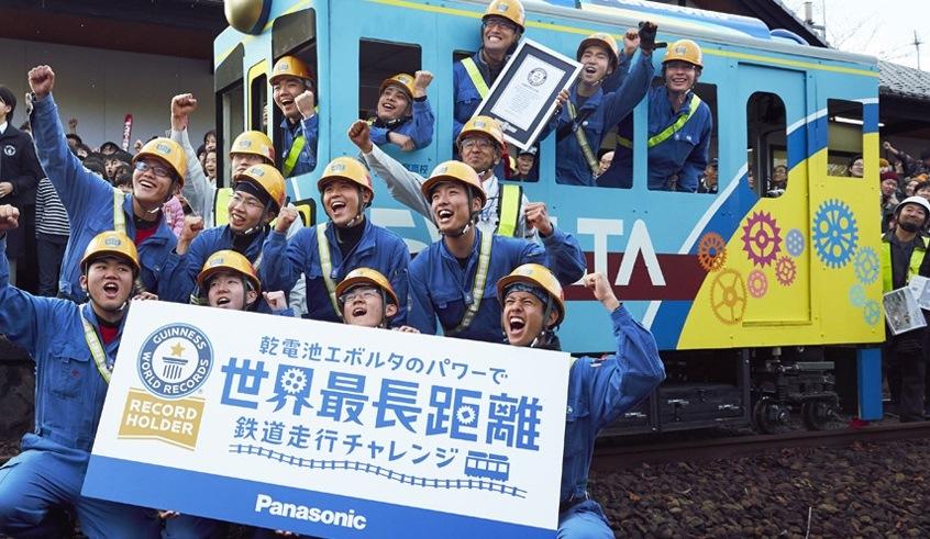 Panasonic: il treno a batterie che entra nel Guinness dei primati