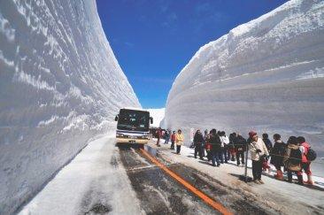 Mura di neve in Giappone