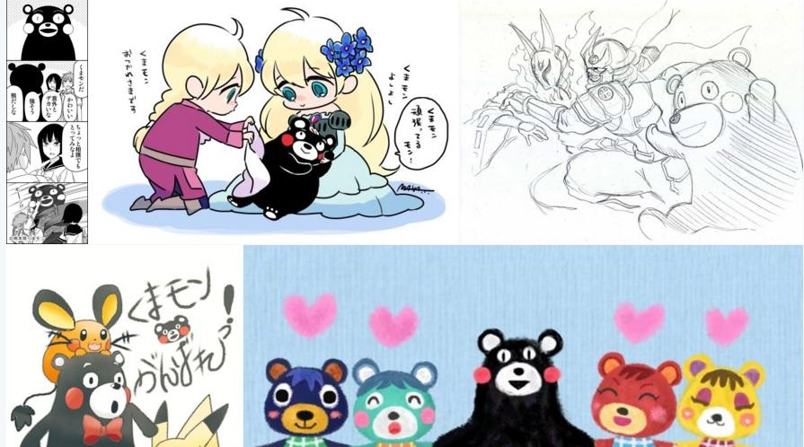 #ForzaKumamon (#くまモン頑張れ絵): su Twitter manga di Kumamon come gesto di affetto verso Kumamoto